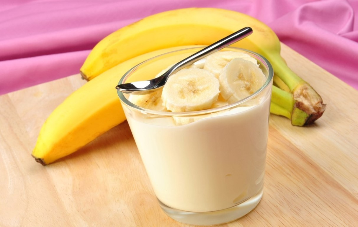 Банан от кашля с молоком