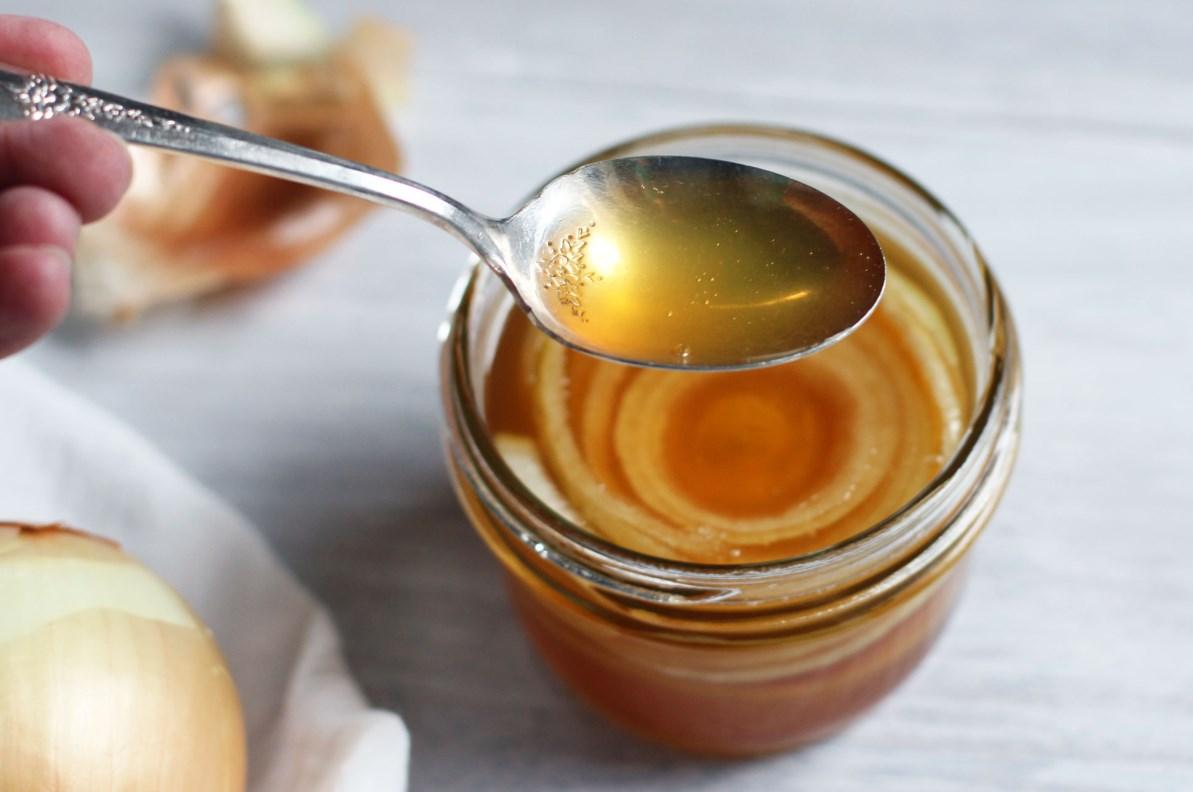 Лук с медом от кашля